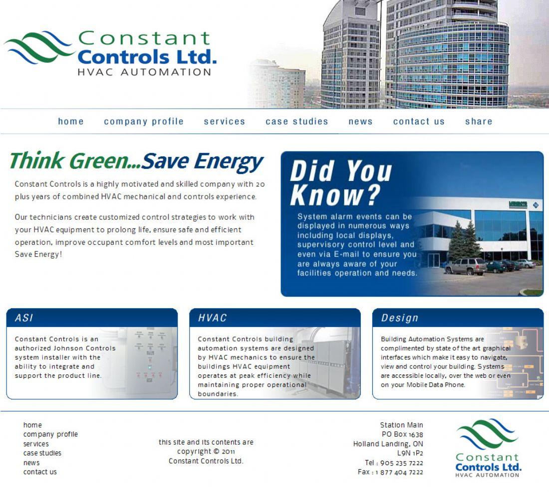 Constant Controls Ltd Web Design Toronto Area Web and Graphic Design