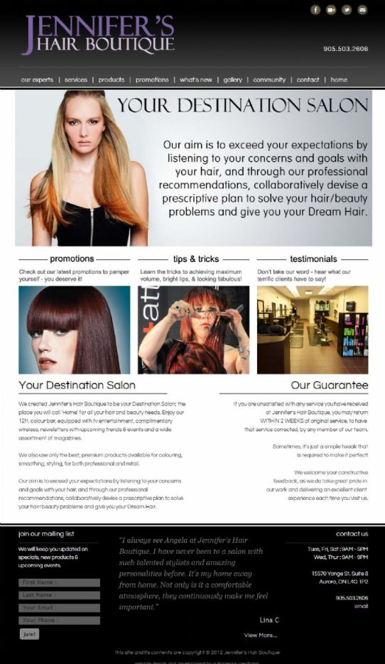 Jennifers Hair Boutique - Aurora Based Hair Boutique