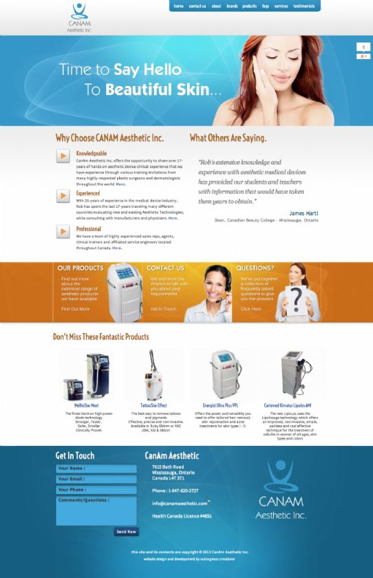 CanAm Aesthetic Inc. Toronto based Medical Aesthetic Devices